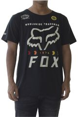 Polo de Hombre Fox Negro / blanco murc fctry ss tech