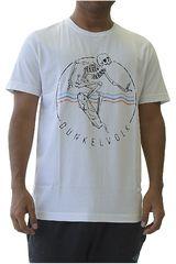 Dunkelvolk Blanco de Hombre modelo skull Casual Polos