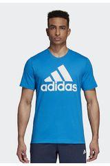 Adidas Celeste de Hombre modelo ess linear tee Polos Deportivo