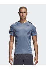 Adidas Acero de Hombre modelo d2m tee 3s Polos Deportivo