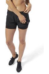 Reebok Negro de Mujer modelo run 2-1 short Deportivo Shorts
