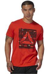 Reebok Rojo de Hombre modelo gs glitch delta tee Deportivo Polos