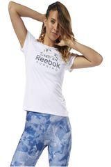 Reebok Blanco de Mujer modelo run ss graphic tee Deportivo Polos