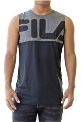 Fila Gris / negro de Hombre modelo men tank top block letter Bividis Deportivo