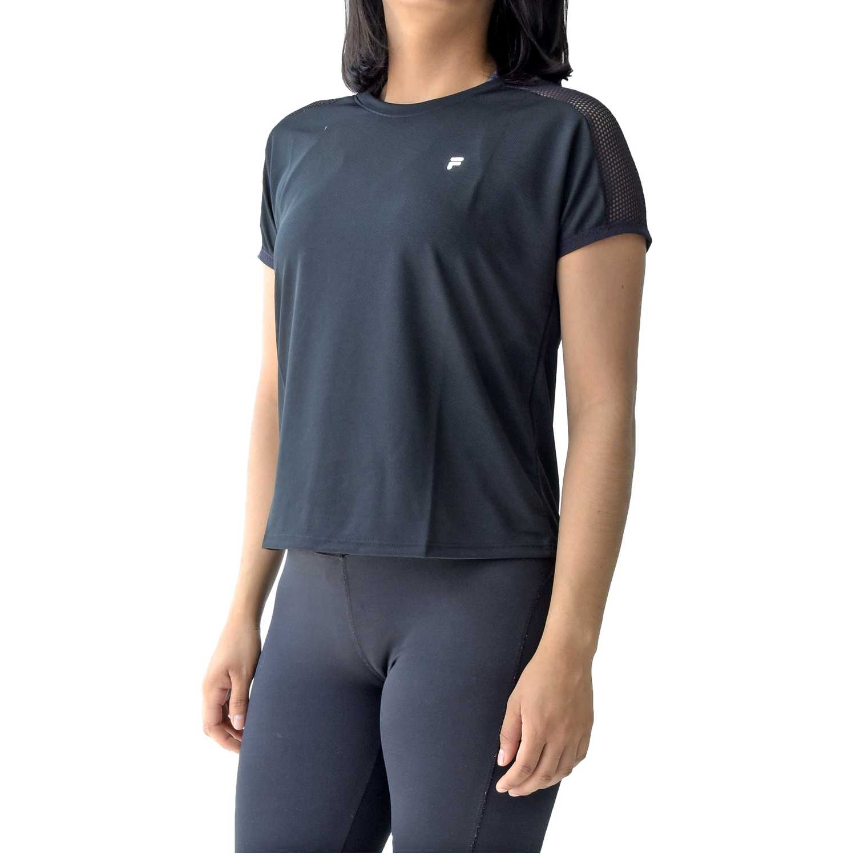 Polo de Mujer Fila Negro / blanco women blouse mesh