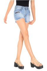 COTTONS JEANS Celeste de Mujer modelo milagros Casual Shorts