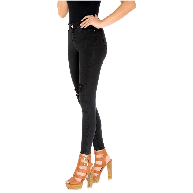 Pantalón de Mujer COTTONS JEANS Negro liliana