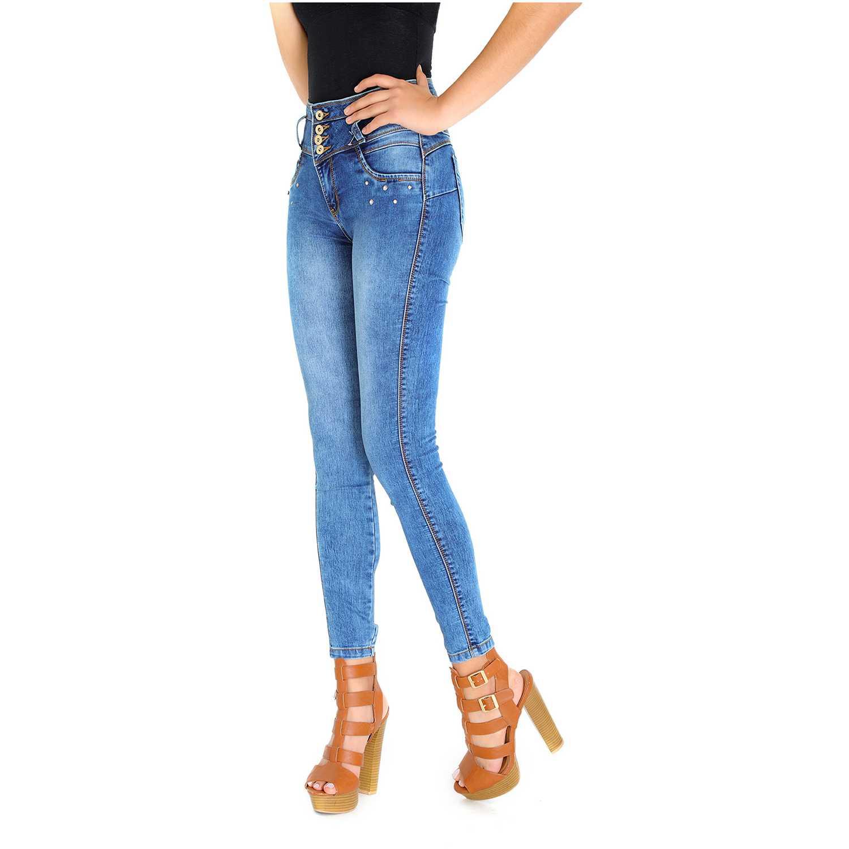 Pantalón de Mujer COTTONS JEANS Azul laura