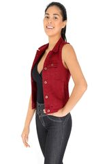 COTTONS JEANS Guinda de Mujer modelo nataly Casual Chalecos
