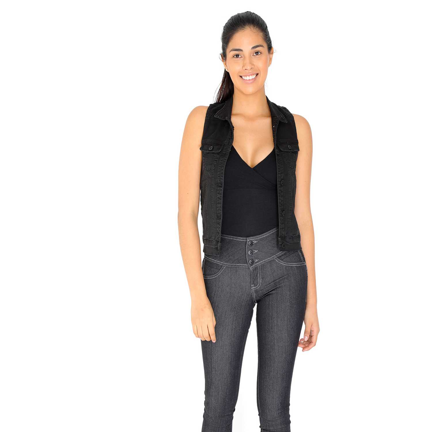 Chaleco de Mujer COTTONS JEANS Negro nataly