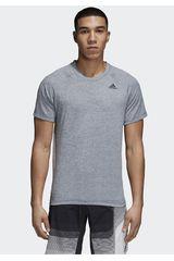 Adidas Gris de Hombre modelo d2m tee ht Deportivo Polos