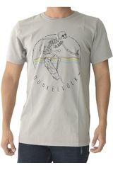 Dunkelvolk Gris de Hombre modelo skull Casual Polos