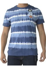 Dunkelvolk Azul de Hombre modelo zebra Polos Casual