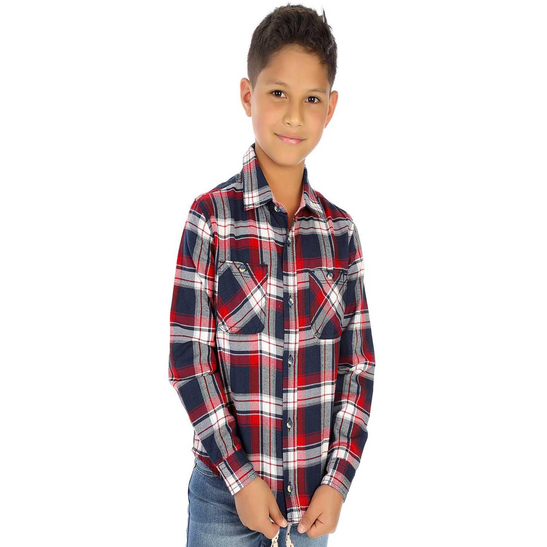 Camisa de Niño COTTONS JEANS Rojo / azul rony