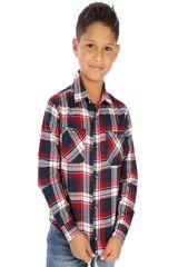 COTTONS JEANS Rojo / azul de Jovencito modelo rony Camisas