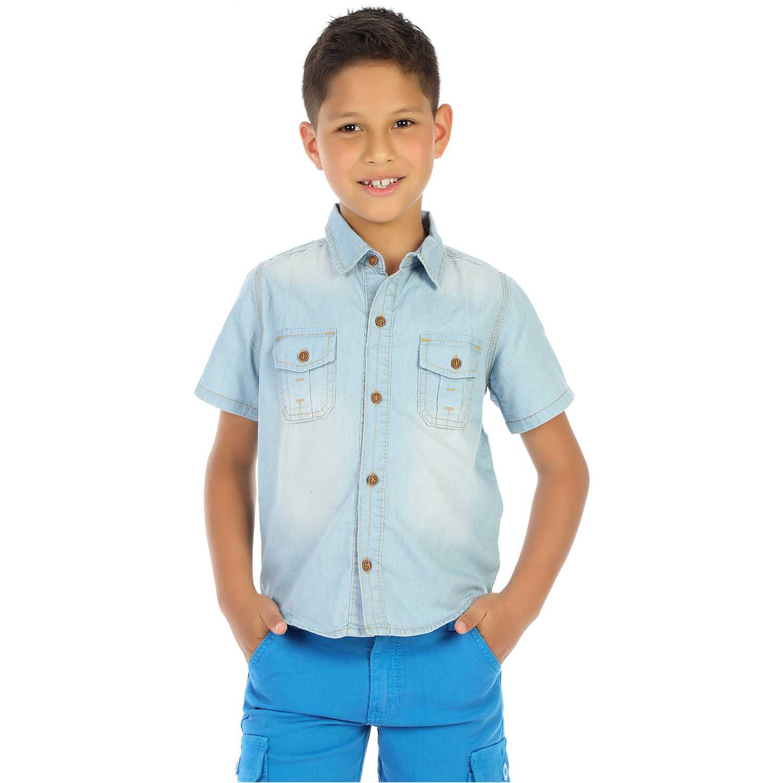 Camisa de Niño COTTONS JEANS Celeste gonzalo