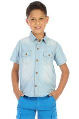 Camisa de Niño COTTONS JEANS gonzalo Celeste