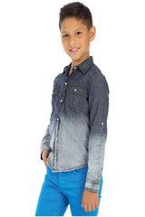 COTTONS JEANS Azul / blanco de Jovencito modelo fabio Camisas
