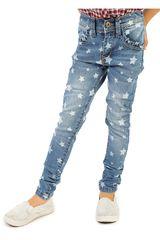 COTTONS JEANS Celeste / blanco de Jovencita modelo estrellita Casual Pantalones