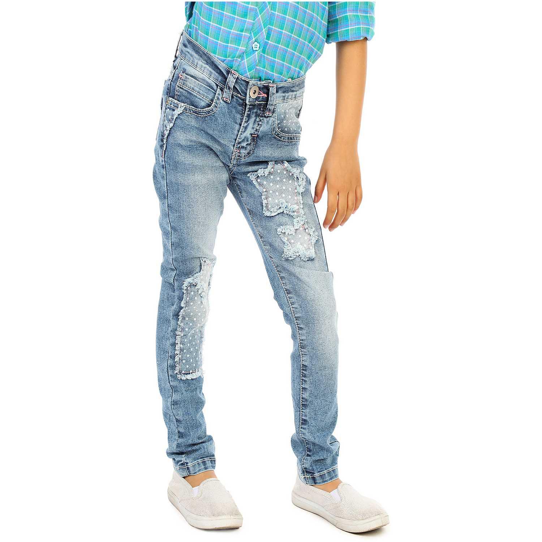 Pantalón de Niña COTTONS JEANS Azul / blanco carmela