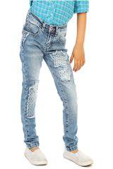 COTTONS JEANS Azul / blanco de Jovencita modelo carmela Pantalones Casual