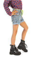 COTTONS JEANS Celeste / negro de Jovencita modelo mariposa Casual Shorts