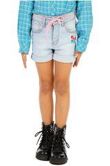 COTTONS JEANS Celeste / rosado de Jovencita modelo abril Shorts Casual