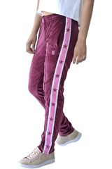Converse Guinda de Mujer modelo miley cyrus track pant Pantalones Deportivo