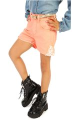 COTTONS JEANS Coral de Jovencita modelo quimi Casual Shorts