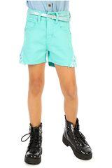 COTTONS JEANS Verde de Jovencita modelo quimi Shorts Casual
