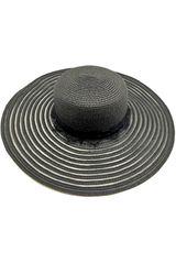 Platanitos Negro de Mujer modelo UW4-3 Sombreros Casual