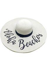 Platanitos Blanco de Mujer modelo UA7-6-A Sombreros Casual