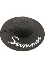 Platanitos Negro de Mujer modelo U7-91-A Sombreros Casual