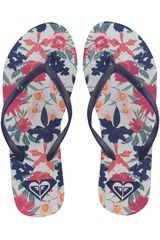Roxy Azul / blanco de Mujer modelo bermuda flip flops Playeras Deportivo Sandalias