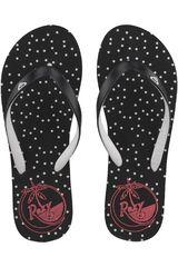 Roxy Negro / rojo de Mujer modelo tahiti flip flops Playeras Sandalias Deportivo