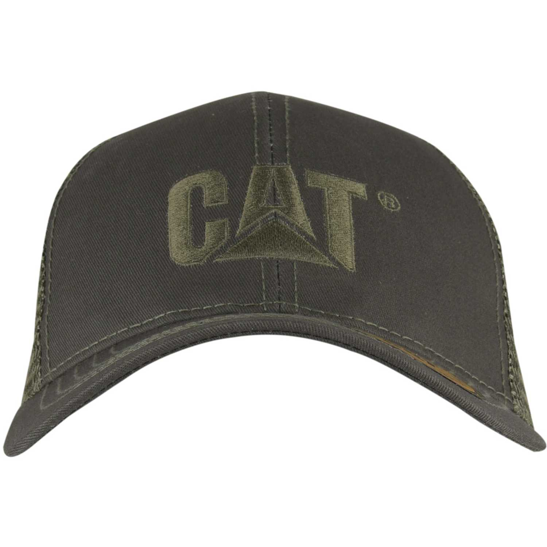 Gorro de Hombre CAT Gris raised logo cap