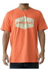 Dunkelvolk Naranja de Hombre modelo palms Casual Polos