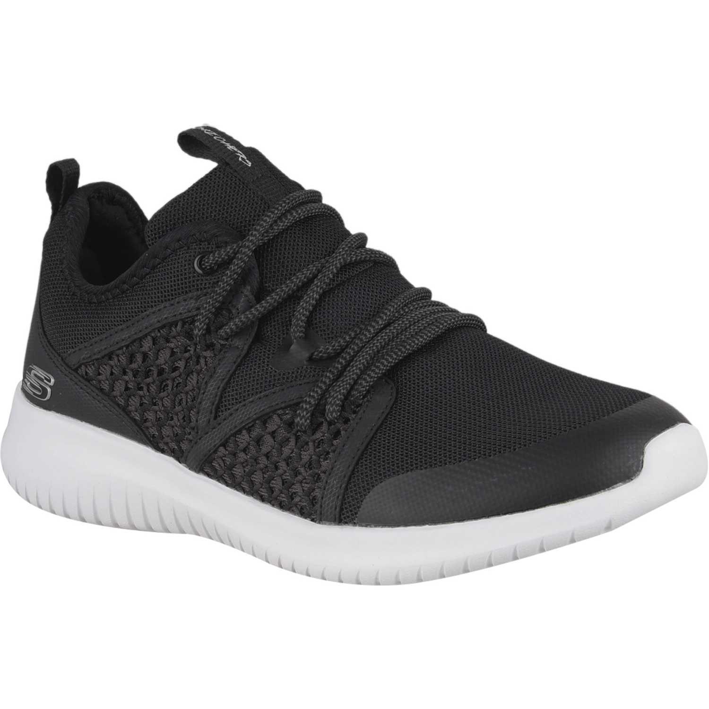 Zapatilla de Mujer Skechers Negro / blanco ultra flex