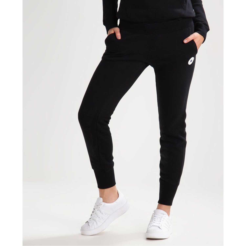 Pantalón de Mujer Converse Negro core chuck patch jogger ft