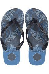 Sandalia de Hombre Dunkelvolk Plomo / azul alamo