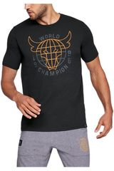 Under Armour Negro de Hombre modelo project rock 96 world champion ss t-blac Deportivo Polos