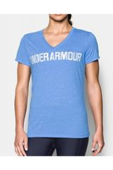 Under Armour Celeste de Mujer modelo threadborne v graphic twist Polos Deportivo