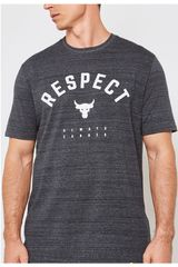 Under Armour Plomo/blanco de Hombre modelo project rock respect tee-blk Deportivo Polos