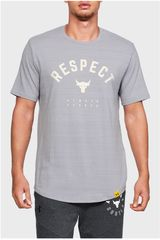 Polo de Hombre Under Armour Gris project rock respect tee-gry