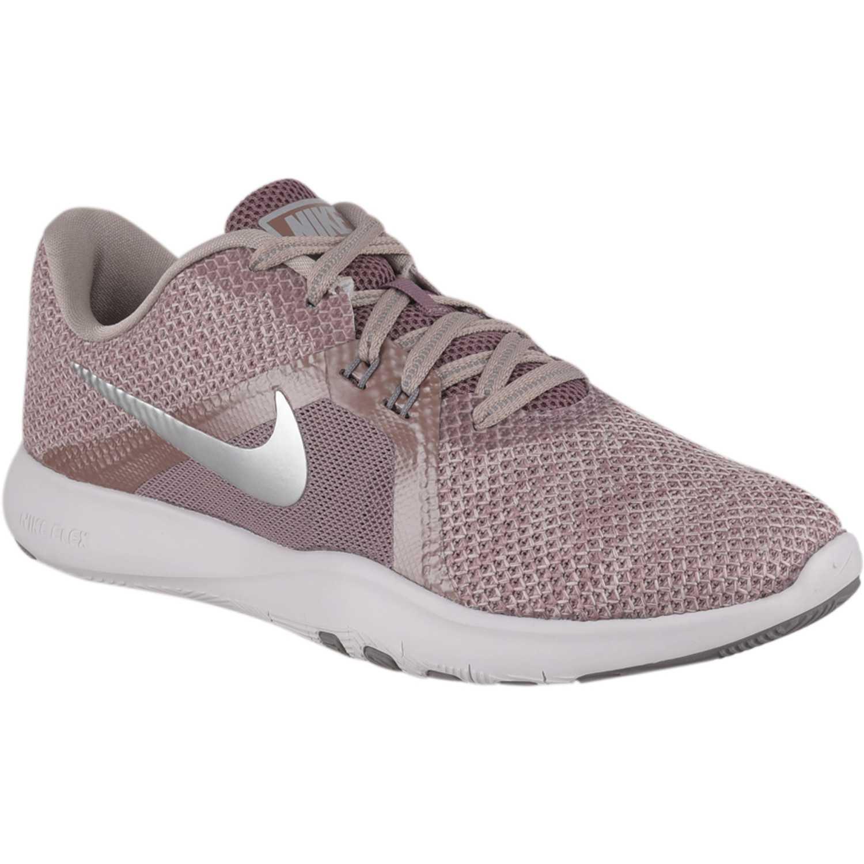 Zapatilla de Mujer Nike nos trae su colección en moda Hombre Mujer Kids. Envíos gratis a todo el Perú. Rosado / gris wmns flex trainer 8 prm