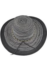 Platanitos Negro de Mujer modelo U4-21 Sombreros Casual