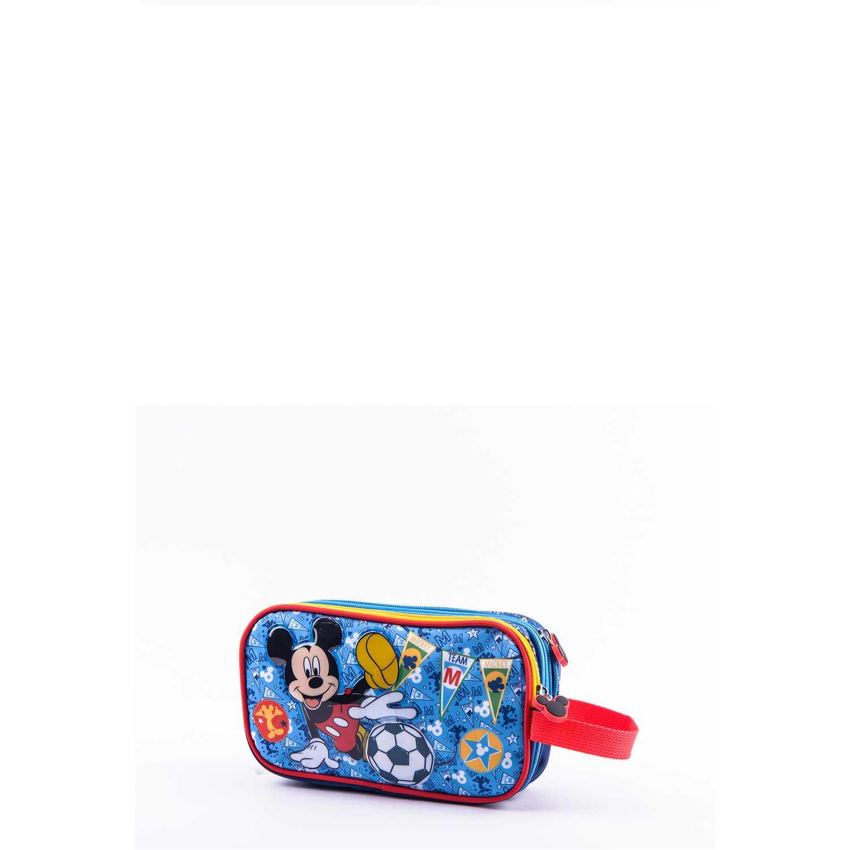 Cartuchera de Niño Scool Azul 9 scool mickey cart tela c/pvc d/cierre