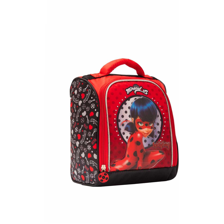 Lonchera de Niña Scool Rojo 9 scool lady bug lonch tela c/pvc bolso