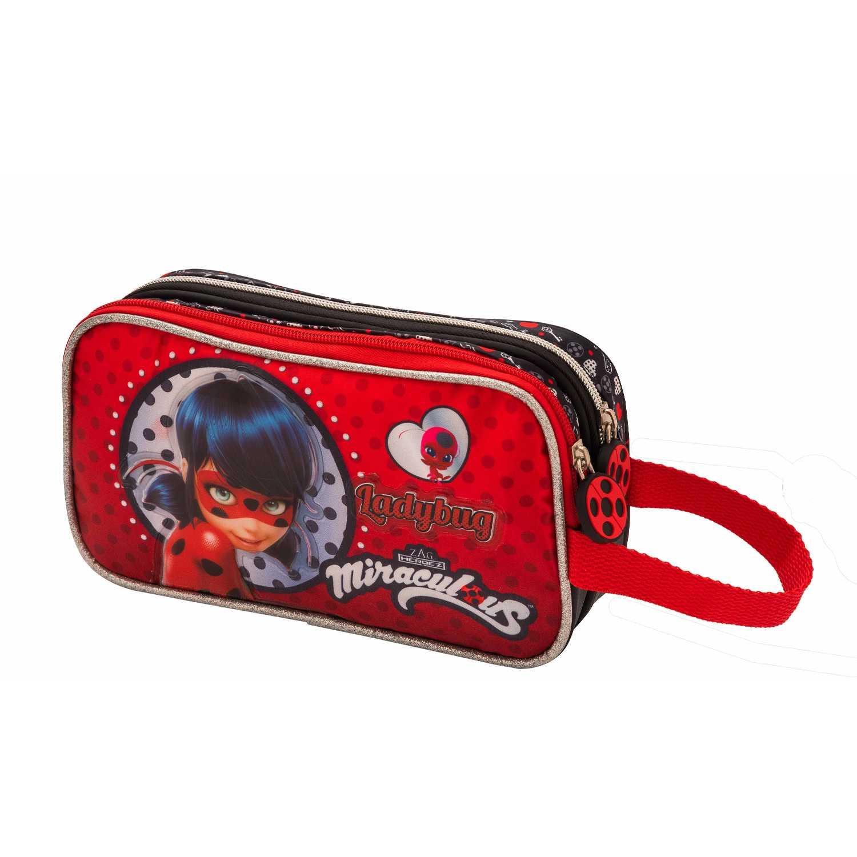 Cartuchera de Niña Scool Rojo 9 scool lady bug cart tela c/pvc d/cierre