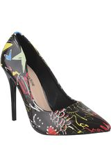 Platanitos Negro de Mujer modelo CV 1681 Fiesta Zapatos Tacos Vestir